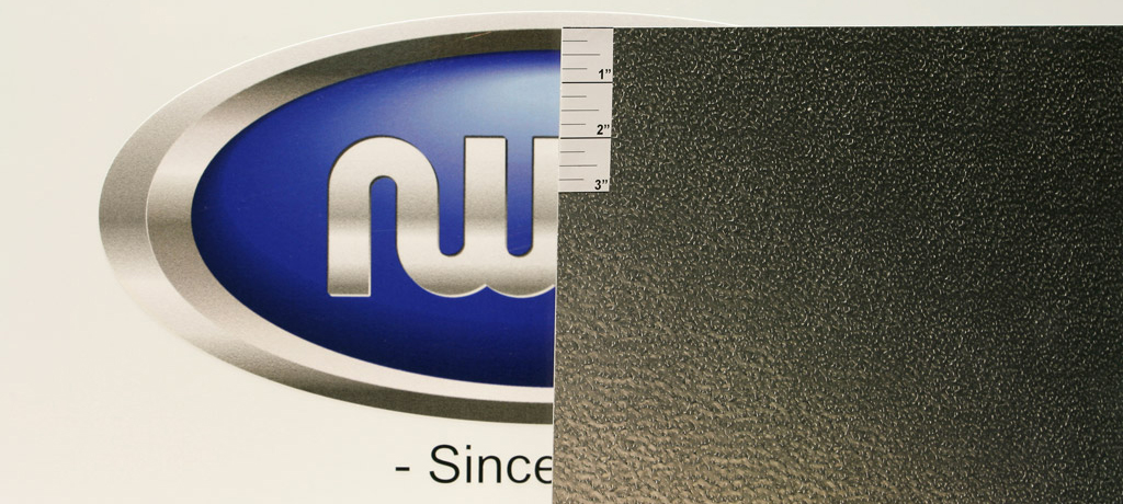"0.040"" Thick, Mil Finish Stucco Embossed Aluminum"